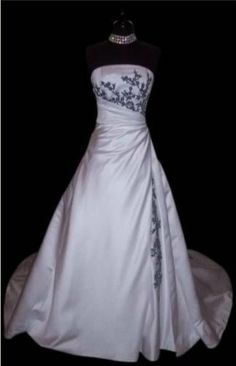 http://www.weddingstuff2014.com Embroidery wedding dress custom size and color bridesmaid by VEIL8, $119.00