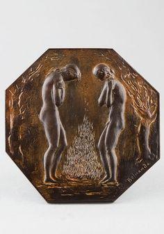 BELMONDO Paul, les saisons - l'hiver. Sculpture 20e en bronze