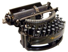 """1889 Curved Two-bank """"National"""" Typewriter Letter Maker, Mechanical Computer, Antique Typewriter, Vintage Television, Portable Typewriter, Vintage Typewriters, Interior Accessories, Clock, Televisions"""