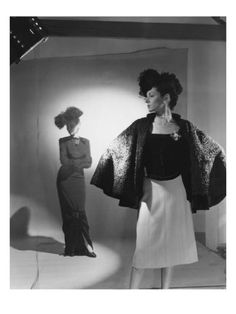 Vogue - October 1944 - Fashions from Bergdorf Goodman by Cecil Beaton