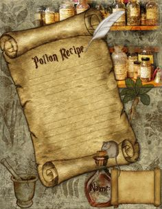 Bilderesultat for love potion recipe Harry Potter Free, Harry Potter Potions, Harry Potter World, Love Potion Recipe, Potions Recipes, Harry Potter Printables, Disney Scrapbook, Scrapbooking, Borders For Paper