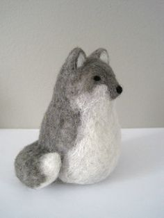 Needle Felted Wolf-    WHAT DOES THE FOX SAY