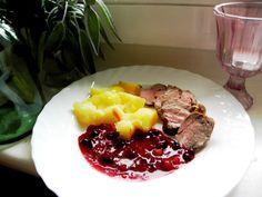 Sertésszűz pecsenye erdei gyümölcsszósszal Atkins, Tapas, Steak, Food Porn, Paleo, Beef, Cooking, Diet, Meat