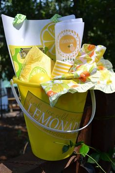 child lemonade stand gift.  Cute idea.