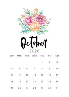 10 October 2020 Calendar Plant Floral Cute With Holidays 10 Example of a cute October 2020 calendar. Below are a few examples of calendar designs that can be made into the idea of making a calendar that is c. Create Your Own Calendar, Make A Calendar, Cute Calendar, School Calendar, Print Calendar, Calendar 2020, Calendar Design, October Wallpaper, Calendar Wallpaper