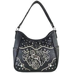 165d972938 Justin West Western Embroidery Horse Turquoise Concho Rhinestone Studded  Shoulder Tote Handbag Purse Wallet - handbagshaven.com Handbagshaven.com  has on ...