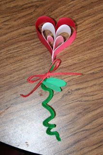 3-d valentine craft - cute idea for party or to give to buddies???