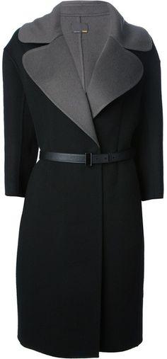 FENDI Belted Boxy Coat - Lyst