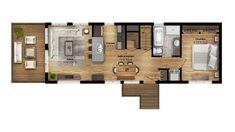16X46F-plan-plancher Floor Plans, Design, Open Concept Kitchen, Large Bedroom, Floor, Floor Plan Drawing, House Floor Plans