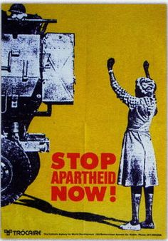 Africans form of racism is called Apartheid. This was the unfair treatment of blacks that lived in Africa. Nelson Mandela helped to stop the apartheid. African History, Women In History, World History, Black History, Protest Kunst, Protest Art, Nelson Mandela Apartheid, Famous Day, South African Art