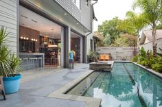 Opening from the back house to the pool