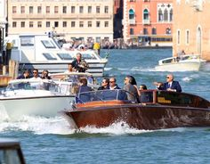 George Clooney and Amal arrive in venice for their wedding