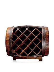 Antique revival Half-Barrel Wine Rack