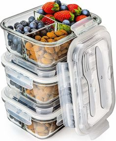 Glass Meal Prep Containers 3 Compartment - Bento Box Containers Glass Food Storage Containers with Lids - Food Containers Food Prep Containers Glass Storage Containers with lids Lunch Containers Glass Storage Containers, Lunch Box Containers, Glass Food Storage, Food Prep Containers, Storage Boxes, Glass Bento Box, Bulthaup Kitchen, Boite A Lunch, Bento Box Lunch