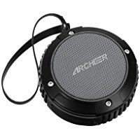 Archeer Waterproof Speaker Portable Outdoor Bluetooth Speaker with Bass, 6 Hour Playtime 5W Driver, A105 Black