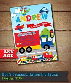 d8364d347 Invitaciones De Cumpleaños Infantiles, Invitaciones Digitales, Fiesta De  Coche, Decoracion De Carros,