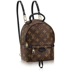 The Louis Vuitton Palm Springs Mini Backpack is the Bag of the Moment ❤ liked on Polyvore featuring bags, backpacks, brown backpack, mini backpack, daypack bag, louis vuitton bags and louis vuitton knapsack