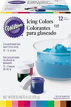 Wilton Certified-Kosher Icing Colors, Set of 12 ** Special offer just for you. Cake Decorating Supplies, Baking Supplies, Decorating Tools, Baking Tools, Food Styling, Bouncy Egg, Conservation, Fondant, Wilton Icing