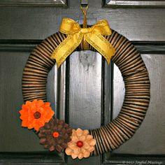 Tutorial for a Fall Wreath - Joyful Musings