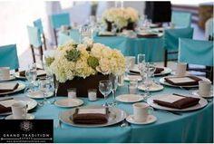 Resultado de imagem para decoração mesa  tiffany casamento