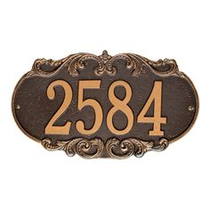 """Wall Address Marker Plaque  $50  Overall: 9.35"""" H x 16"""" W x 0.38"""" D"""