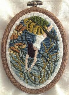 "There is beauty in the world, though it is harsher than we expect it to be - 2"" x 3"" embroidery on linen"
