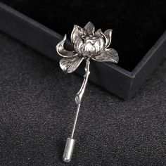 Find More Brooches Information about Mdiger Fashion Vintage Metal Relief Lotus Brooches Wedding Collar Brooch Pin Stick Tuxedo Casual Brooches Men Suit Accessories,High Quality suit set,China accessories birthday Suppliers, Cheap suit sleeve from Fashion Wholesale Boutique on Aliexpress.com
