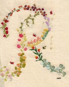 This embroidery would make a beautiful card or stationery...  <3