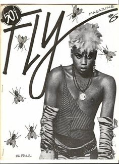 RuPaul ~ very young (look at the price of the magazine).
