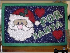 "PDF Pattern for ""For Santa"" Mug Rug, Christmas Mug Rug Pattern, Santa Mini Quilt Pattern - Tutorial, DIY available on Handmadeology Market"