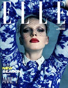 COVER  Elle UK Agosto 2013 | Anne Vyalitsyna por Kai Z Feng edição limitada para colecionadores [Capa]