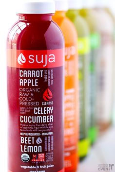 I love these! !!!! I think i may try a cleanse with them too. My 3-Day Suja Juice Cleanse | gimmesomeoven.com