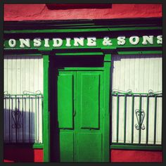 Considine and Sons , one of the traditional shopfronts of Enystimon in Co Clare, a town noted for its beautiful shopfronts.