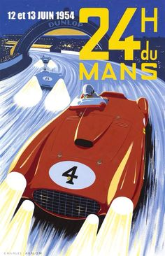 Awesome Ferrari 2017: Ferrari 375 Plus, Gonzalez, Le Mans 1954 (Charles Avalon)......  Office Posters Check more at http://carsboard.pro/2017/2017/01/17/ferrari-2017-ferrari-375-plus-gonzalez-le-mans-1954-charles-avalon-office-posters/