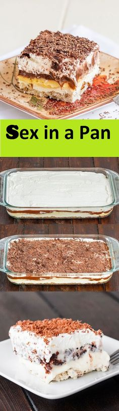 Chocolate Pudding, Cream Cheese Layered Dessert In A Pan Easy Summer Desserts, Layered Desserts, Desserts For A Crowd, No Bake Desserts, Yummy Treats, Delicious Desserts, Sweet Treats, Sex In A Pan Recipe, Dessert Halloween