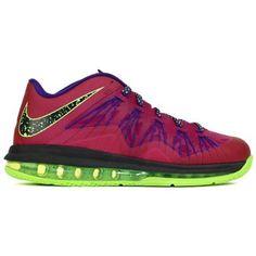 Nike Air Max LeBron X Low Basketball Shoe - Raspberry Red