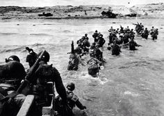 Troops Coming Ashore On Juno Beach ... D-Day June 6, 1944