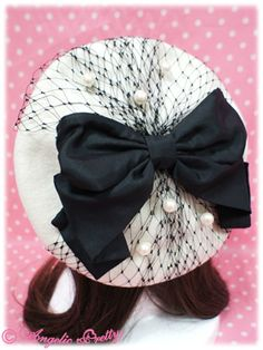 Lolibrary | Angelic Pretty - Hair accessories - Cinema Doll Beret