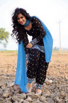 Designer Zari Resham Embroidered Black Cotton Dress Material - Salwar Kameez