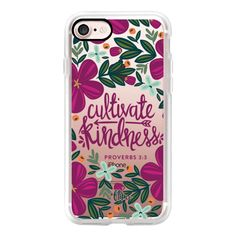 Cultivate Kindness - iPhone 7 Case, iPhone 7 Plus Case, iPhone 7... (400 MAD) ❤ liked on Polyvore featuring accessories, tech accessories and android case