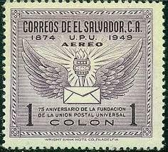 """247- Salvador (El) """"upu stamps"""""""