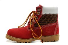 Fashion Winter Timberland Kids 6 Inch Shoes Red Brown White,Timberland Women and Men Boots