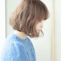 【HAIR】日野 達也/BellaDolceさんのヘアスタイルスナップ(ID:165774) Medium Short Hair, Short Hair Cuts For Women, Short Hair Styles, Short Hairstyles For Women, Curled Hairstyles, Hairstyles Haircuts, Hair Arrange, Asian Hair, Dyed Hair