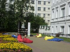 This free outdoor library in Yekaterinburg, Russia opens in the city center every summer. Those comfy-looking sack-chairs are a seriously good idea. Flavorwire