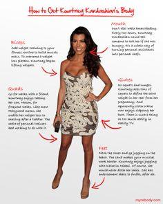 How to Get Kourtney Kardashian's Body