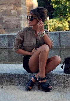 if only shorts looked good on me. Summer Fashion Trends, Spring Summer Fashion, Summer 3, Summer Street, Fashion 2015, Fall Fashion, Fashion Models, Mode Style, Style Me