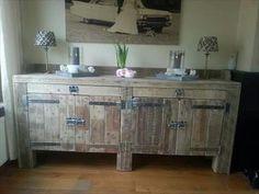 Design Your Own Pallet Wood Kitchen Cabinets | Pallets Furniture Designs