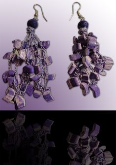 Amethyst: Wear these handcrafted earrings by BRizzy with a feminine glamour accented the elegance. Amethyst, Feminine, Glamour, Elegant, Earrings, How To Wear, Jewelry, Fashion, Lady Like