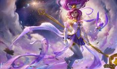 Star Guardian: Janna - Splash art ©2016 Riot Games Inc all rights reserved. All of the work was done in close collaboration with ma peeps in the skin team <3 Big thanks to Kelly Aleshire for the collaboration.