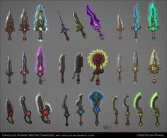 Magic Daggers Concepts by ~Vakon-art on deviantART